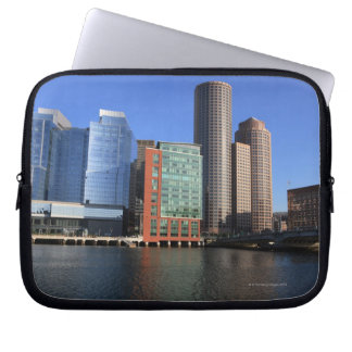 Boston Harbor and skyline Boston is one of the 4 Laptop Sleeves