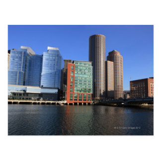 Boston Harbor and skyline.  Boston is one of the 4 Postcard