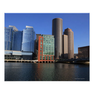 Boston Harbor and skyline Boston is one of the 4 Poster