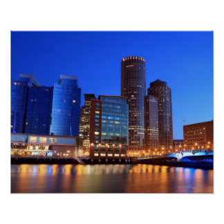 Boston Harbor and skyline Boston is one of the 5 Print