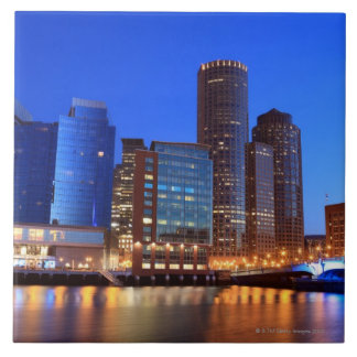 Boston Harbor and skyline.  Boston is one of the 5 Large Square Tile