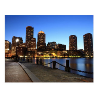 Boston Harbor and skyline.  Boston is one of the 6 Postcard