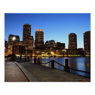 Boston Harbor and skyline.  Boston is one of the 6 Poster