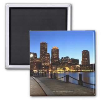 Boston Harbor and skyline.  Boston is one of the 6 Square Magnet