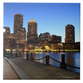 Boston Harbor and skyline.  Boston is one of the 6 Large Square Tile