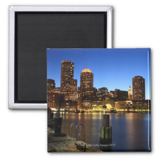 Boston Harbor and skyline.  Boston is one of the 7 Square Magnet