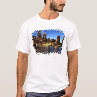 Boston Harbor and skyline.  Boston is one of the 7 T-Shirt
