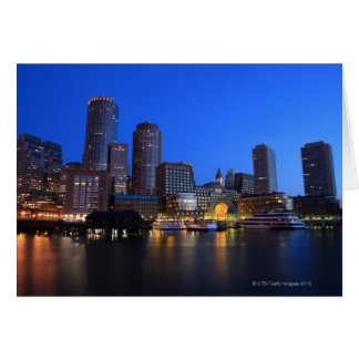 Boston Harbor and skyline.  Boston is one of the 8 Greeting Card