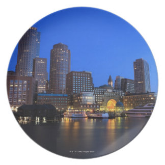 Boston Harbor and skyline Boston is one of the 8 Party Plates