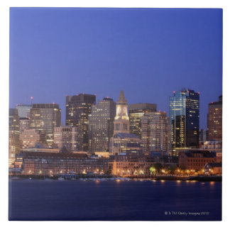 Boston Harbor and skyline.  Boston is one of the 9 Large Square Tile