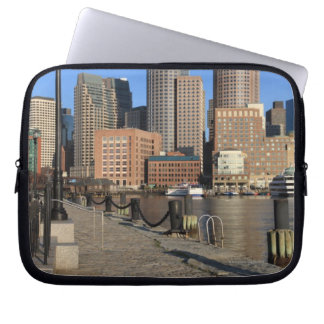 Boston Harbor and skyline Boston is one of the Laptop Sleeve
