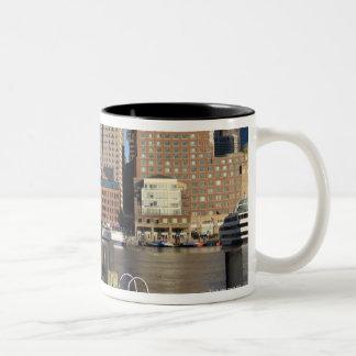 Boston Harbor and skyline.  Boston is one of the Mug