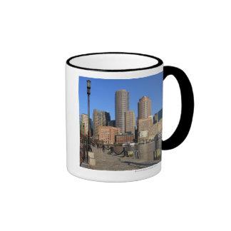Boston Harbor and skyline.  Boston is one of the Coffee Mug