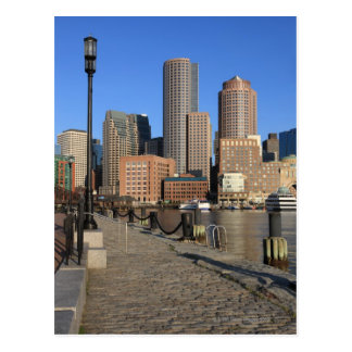 Boston Harbor and skyline.  Boston is one of the Postcard