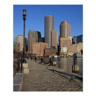Boston Harbor and skyline.  Boston is one of the Poster