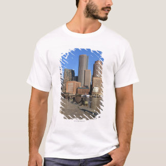 Boston Harbor and skyline.  Boston is one of the T-Shirt