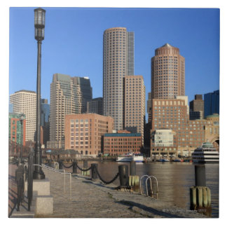 Boston Harbor and skyline.  Boston is one of the Large Square Tile