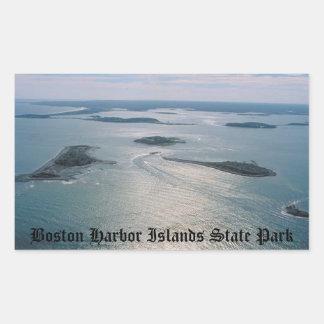 Boston Harbor Islands Rectangular Sticker