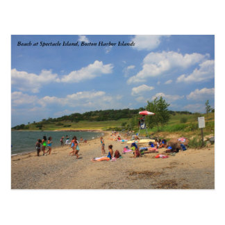 Boston Harbor Islands Spectacle Island Beach Postcard