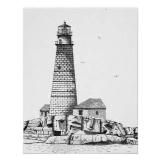 Boston Harbor Lighthouse Posters