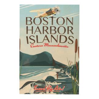 Boston Harbor Massachusetts Flight poster