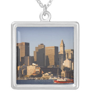 Boston Harbor, Massachusetts Silver Plated Necklace