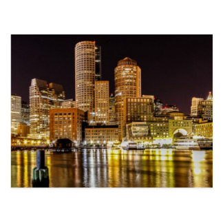 Boston Harbor Post Card