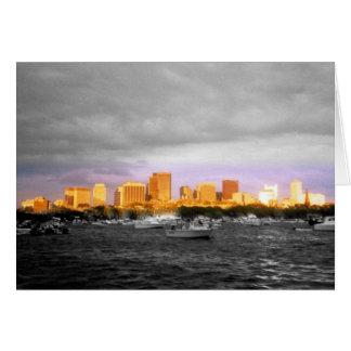 Boston Harbor Shoreline Greeting Card