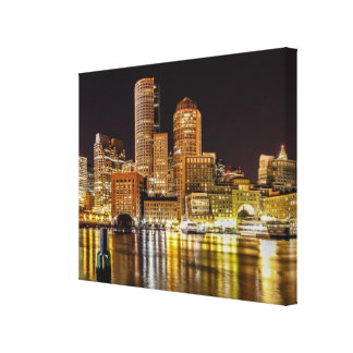 Boston Harbor Stretched Canvas Print
