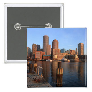 Boston Harbour and skyline.  Boston is one of the  Button