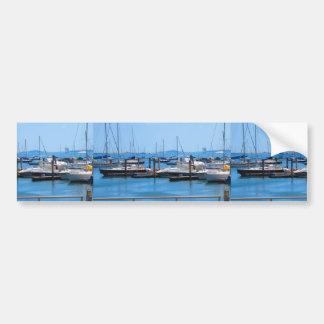 Boston Harbour Boats Sail SailBoats Lake views Bumper Sticker