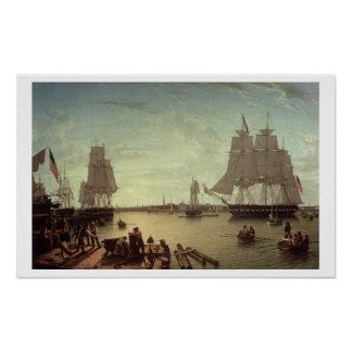 Boston Harbour from Constitution Wharf Poster