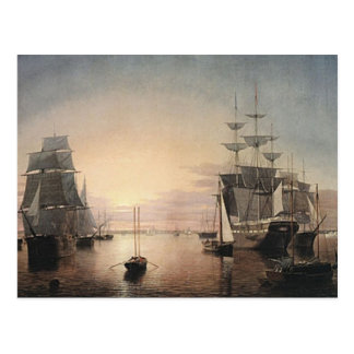 Boston harbour postcard