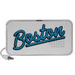 Boston in cyan iPhone speakers