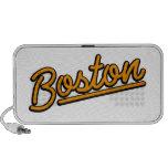 Boston in orange mini speaker