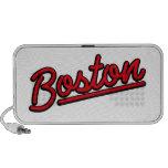 Boston in red travel speaker