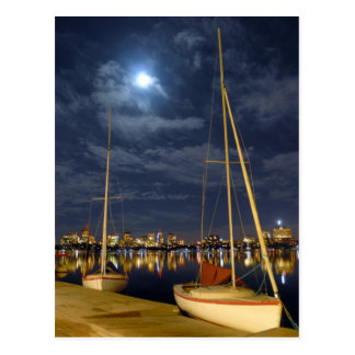 Boston in the Full Moon Postcard