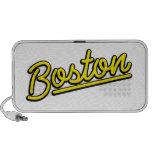 Boston in yellow mini speaker