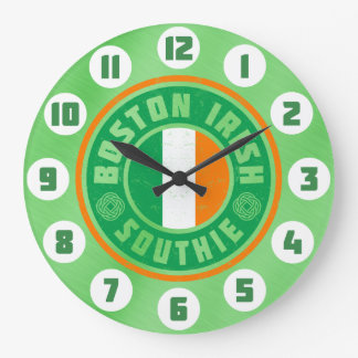 Boston Irish American Southie Clock