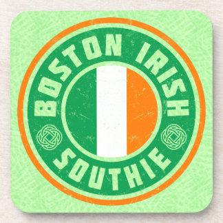 Boston Irish American Southie Coaster Set