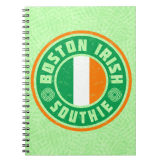 Boston Irish American Southie Notepad Notebooks
