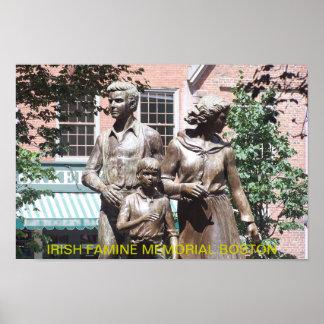 Boston Irish Famine Memorial Poster