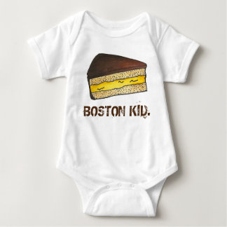 BOSTON KID Cream Pie Slice Massachusetts Foodie Baby Bodysuit