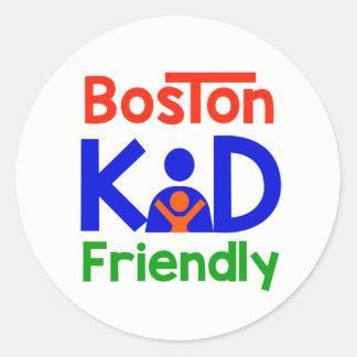 Boston Kid Friendly stickers