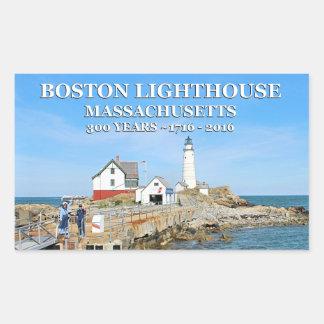 Boston Lighthouse, Massachusetts Rectangular Sticker