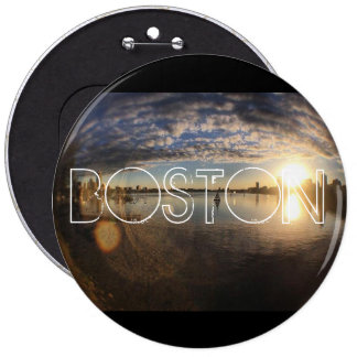 Boston MA 6 Cm Round Badge