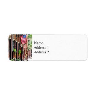 Boston MA - Acorn Street Return Address Label