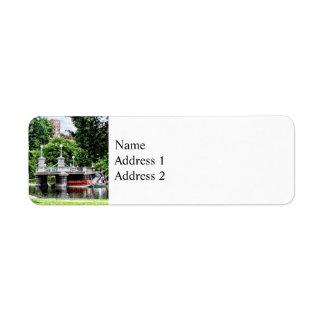 Boston MA - Boston Public Garden Bridge Return Address Label
