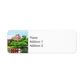 Boston MA - Boston Public Garden Return Address Label