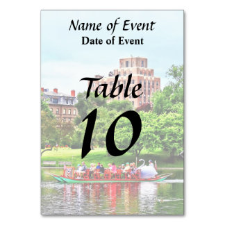 Boston MA - Boston Public Garden Table Cards